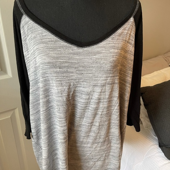 Grey and Black Top